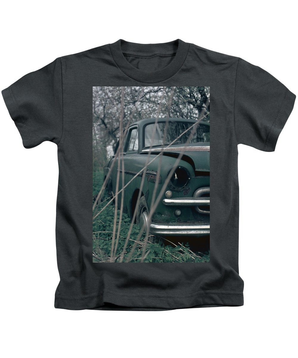 Vintage Kids T-Shirt featuring the photograph Bornholm Volvo by David Hohmann