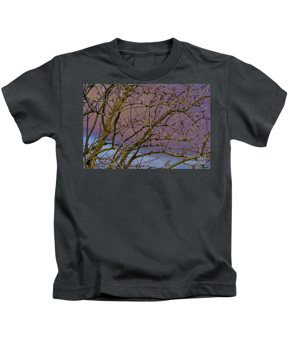 Branches Kids T-Shirt featuring the digital art Branches by Carol Lynch