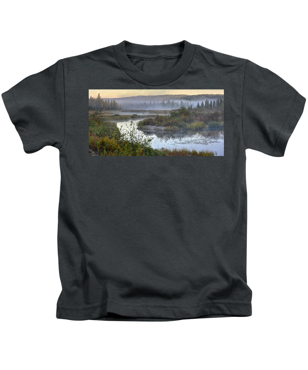 Landscape Kids T-Shirt featuring the photograph Breaking Dawn by Claudio Bacinello