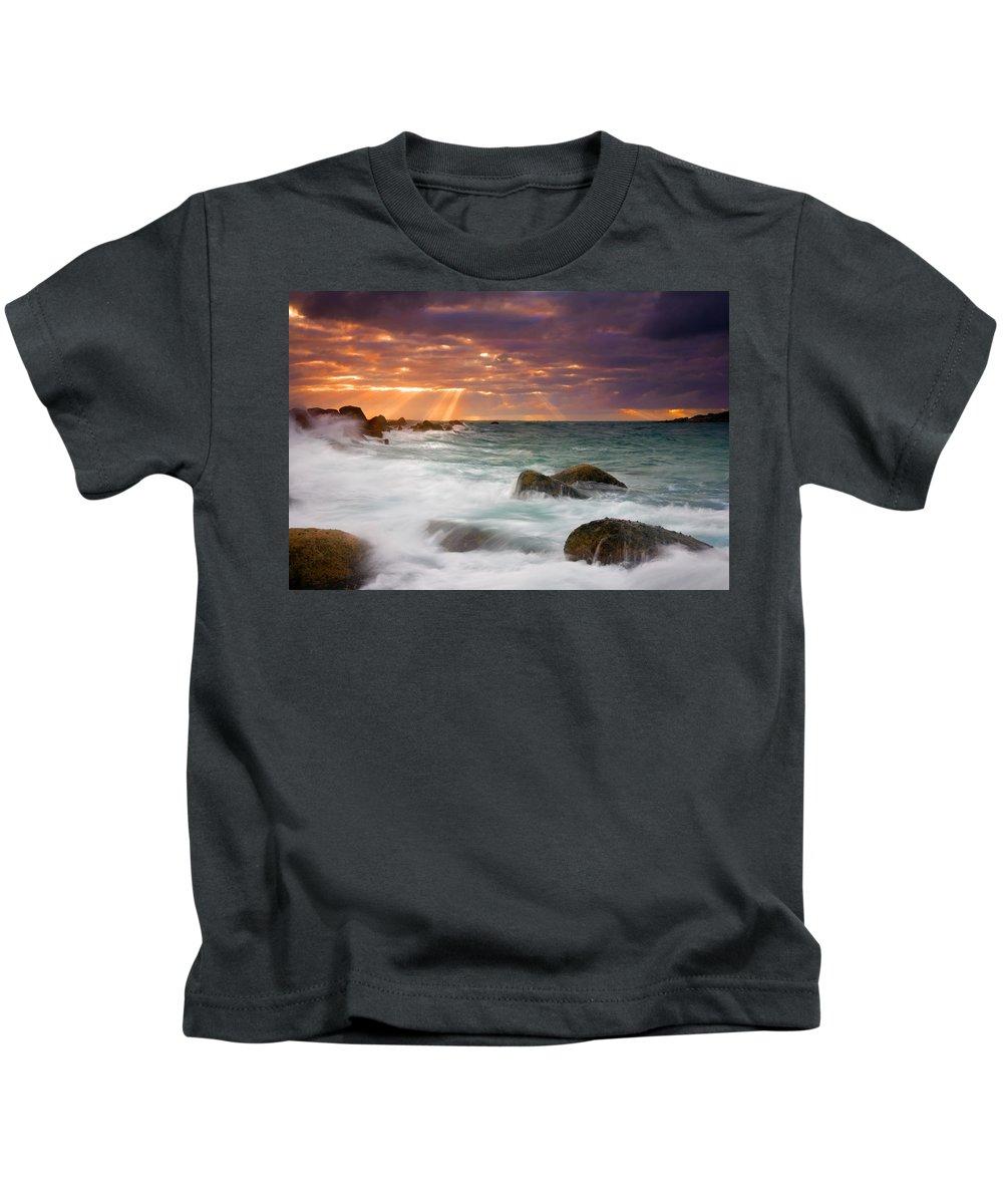 Dawn Kids T-Shirt featuring the photograph Breathtaking by Mike Dawson
