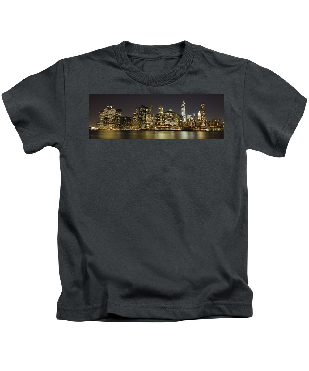 Freedom Tower Kids T-Shirt featuring the photograph Bright Lights Big City by Theodore Jones