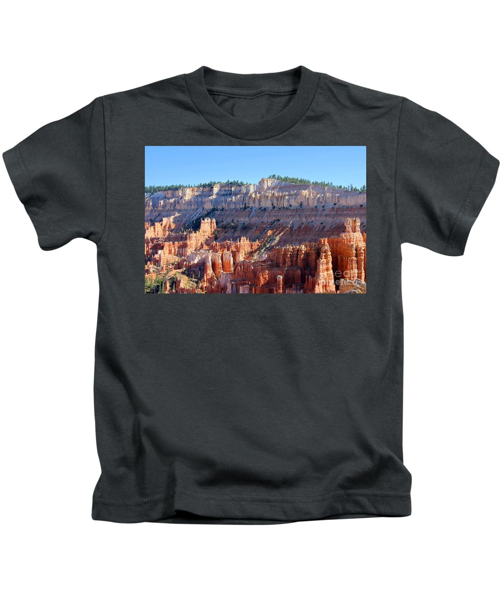 Bryce Amphitheater Kids T-Shirt featuring the photograph Bryce Amphitheater by Jemmy Archer