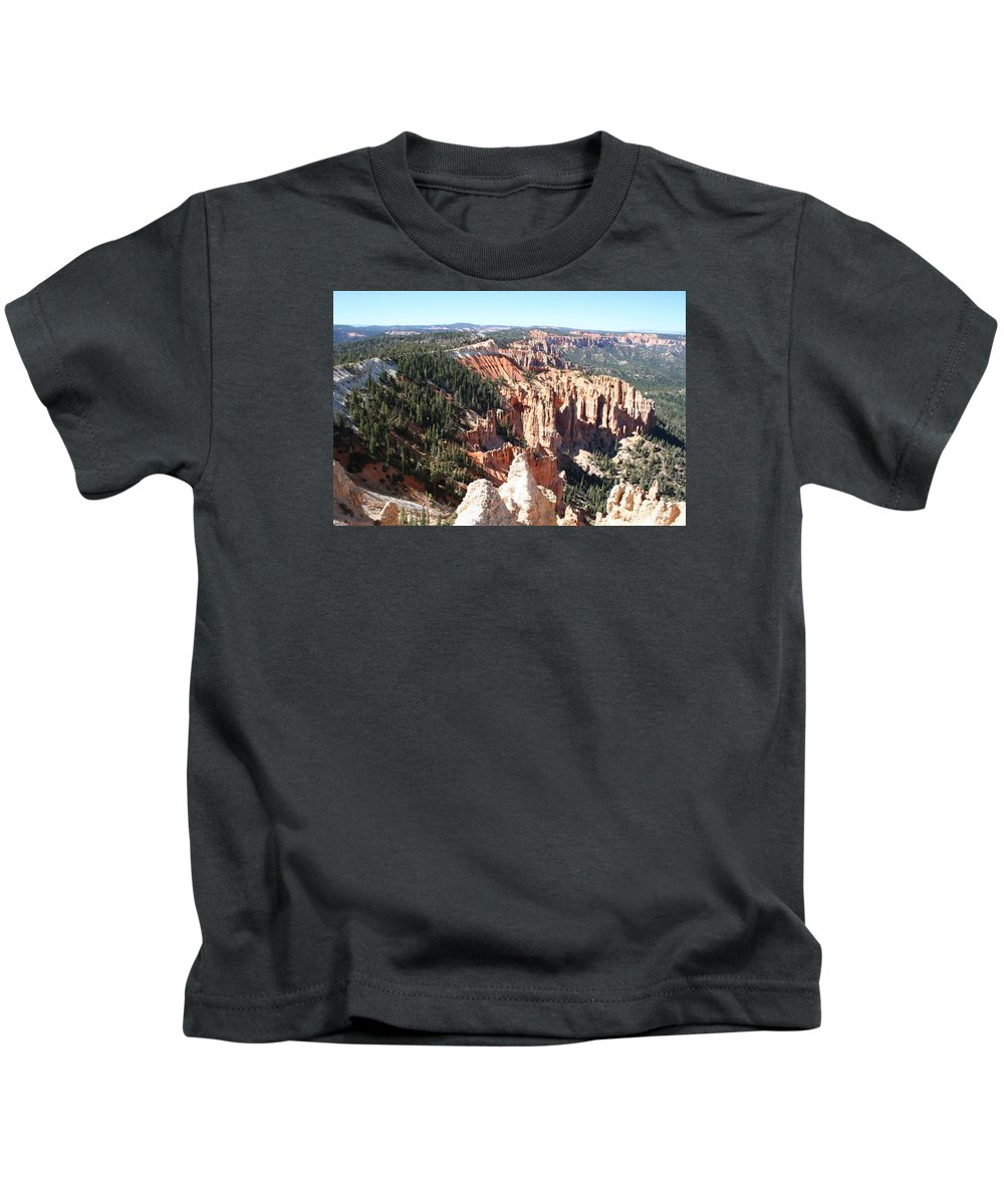 Canyon Kids T-Shirt featuring the photograph Bryce Canyon Hoodoos Landscape by Christiane Schulze Art And Photography