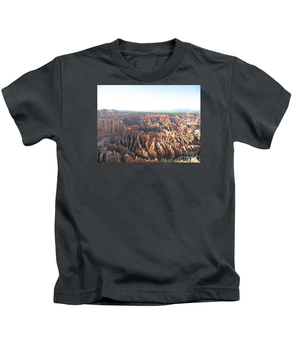 Rocks Kids T-Shirt featuring the photograph Bryce Canyon Scenic Overlook by Christiane Schulze Art And Photography