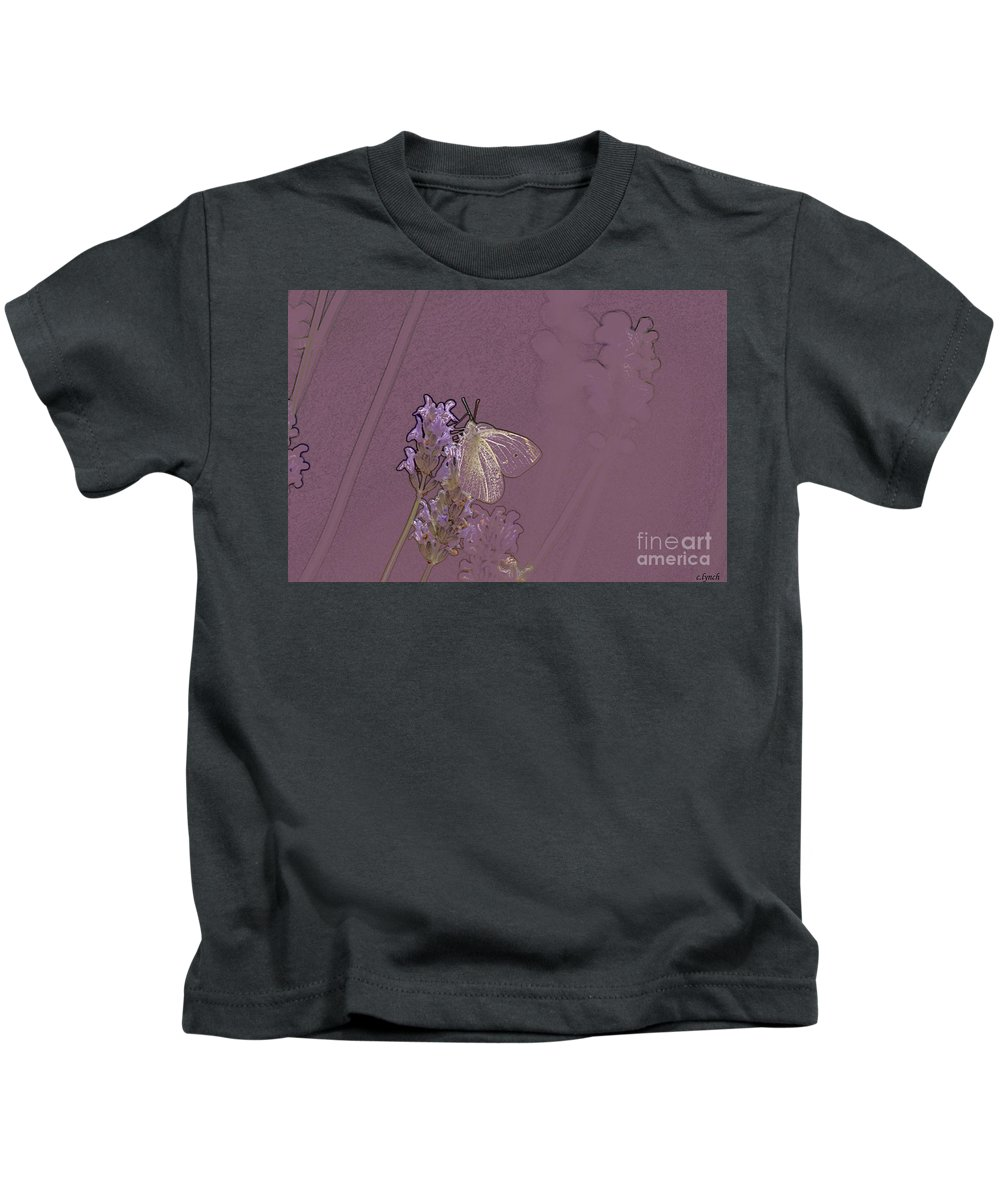 Butterfly Kids T-Shirt featuring the digital art Butterfly 1 by Carol Lynch