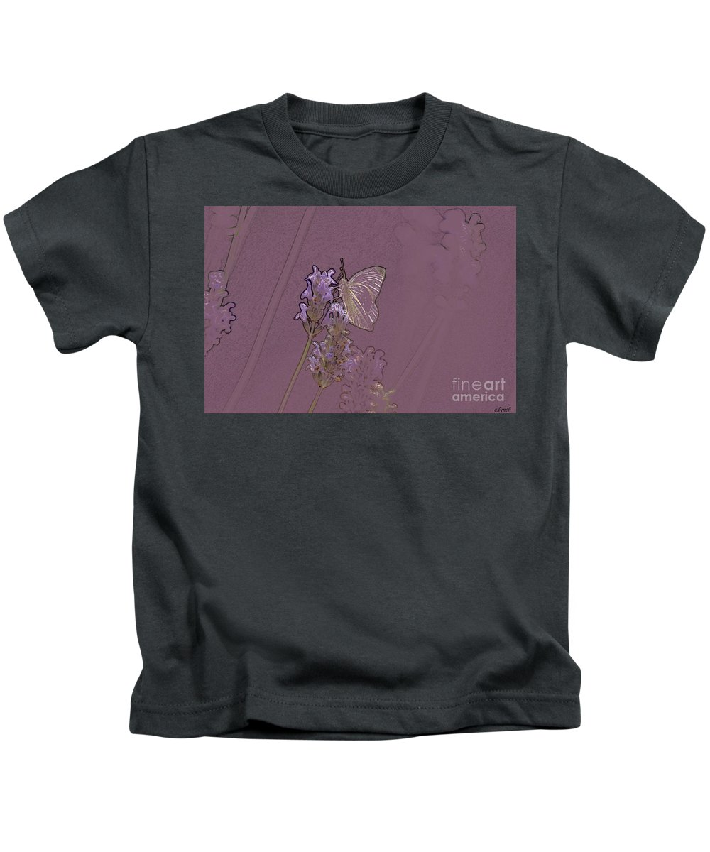 Butterfly Kids T-Shirt featuring the digital art Butterfly 2 by Carol Lynch