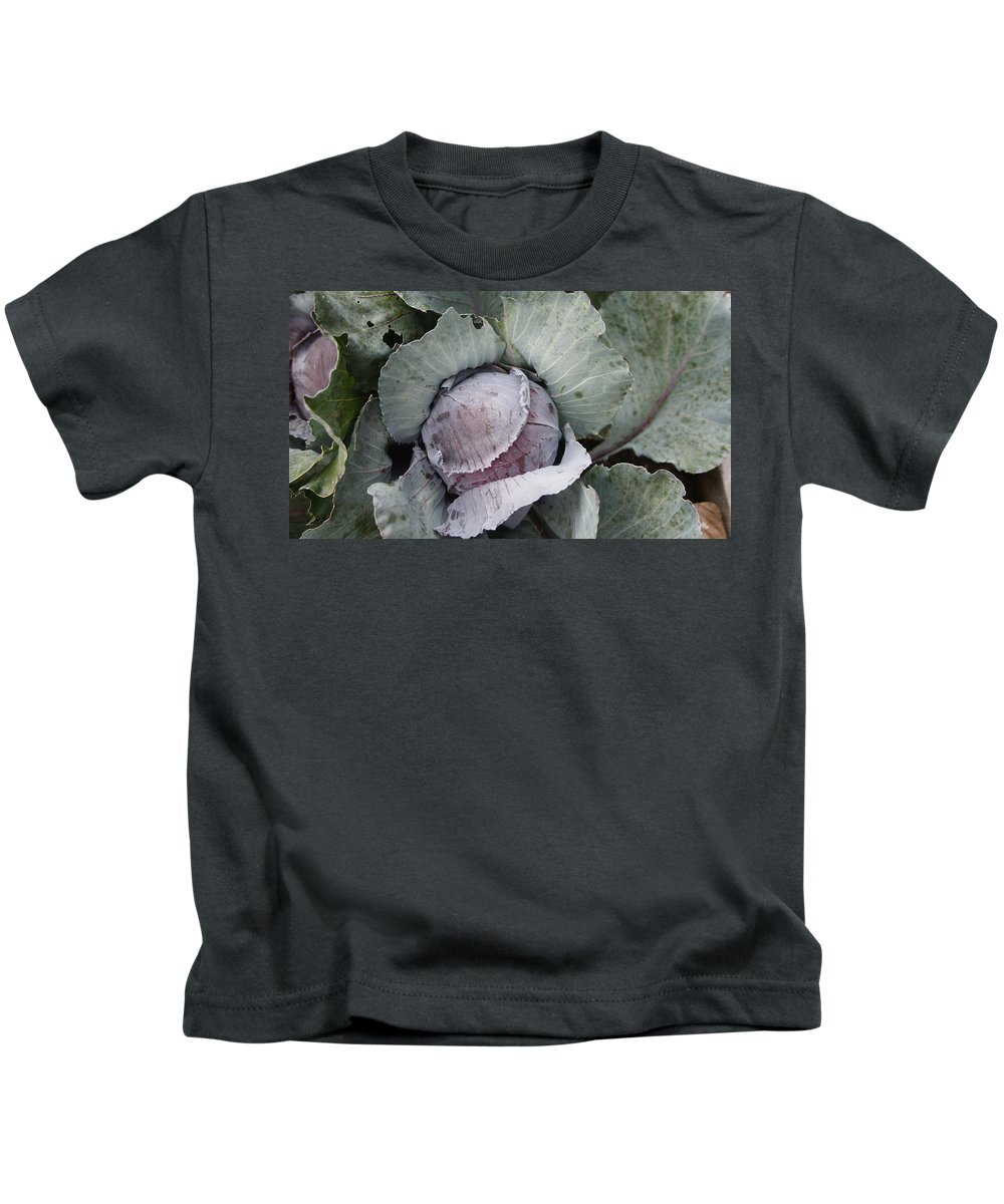 Cabbage Kids T-Shirt featuring the photograph Cabbage by Rob Luzier