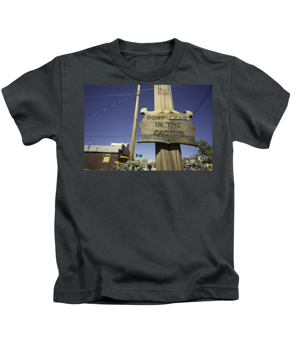 Cactus Kids T-Shirt featuring the photograph Cactus Crap by Rob Hawkins