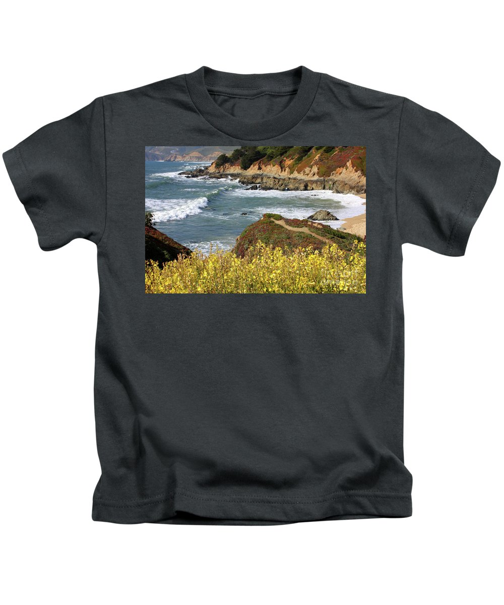 California Kids T-Shirt featuring the photograph California Coast Overlook by Carol Groenen