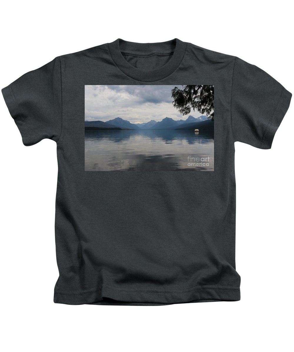 Glacier National Park Kids T-Shirt featuring the photograph Calm Before The Storm by Carol Groenen