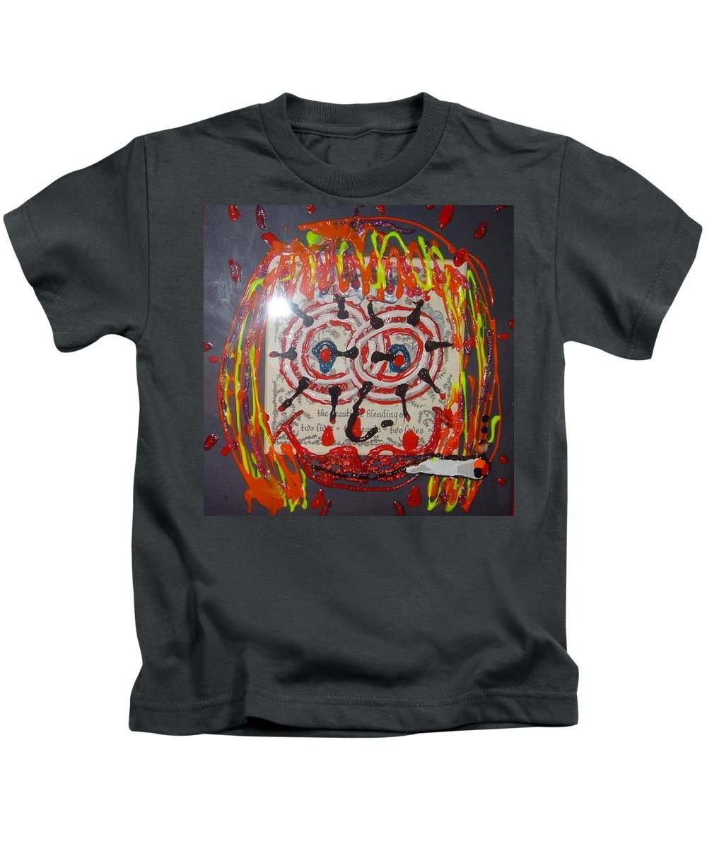 Stress Kids T-Shirt featuring the painting Camille by Lisa Piper