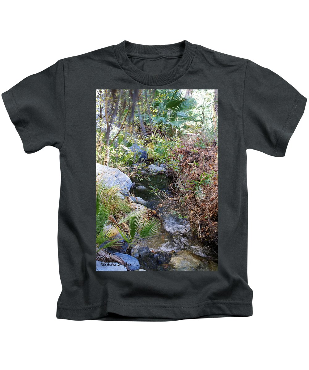 Canyon Creek Kids T-Shirt featuring the digital art Canyon Creek by Barbara Snyder