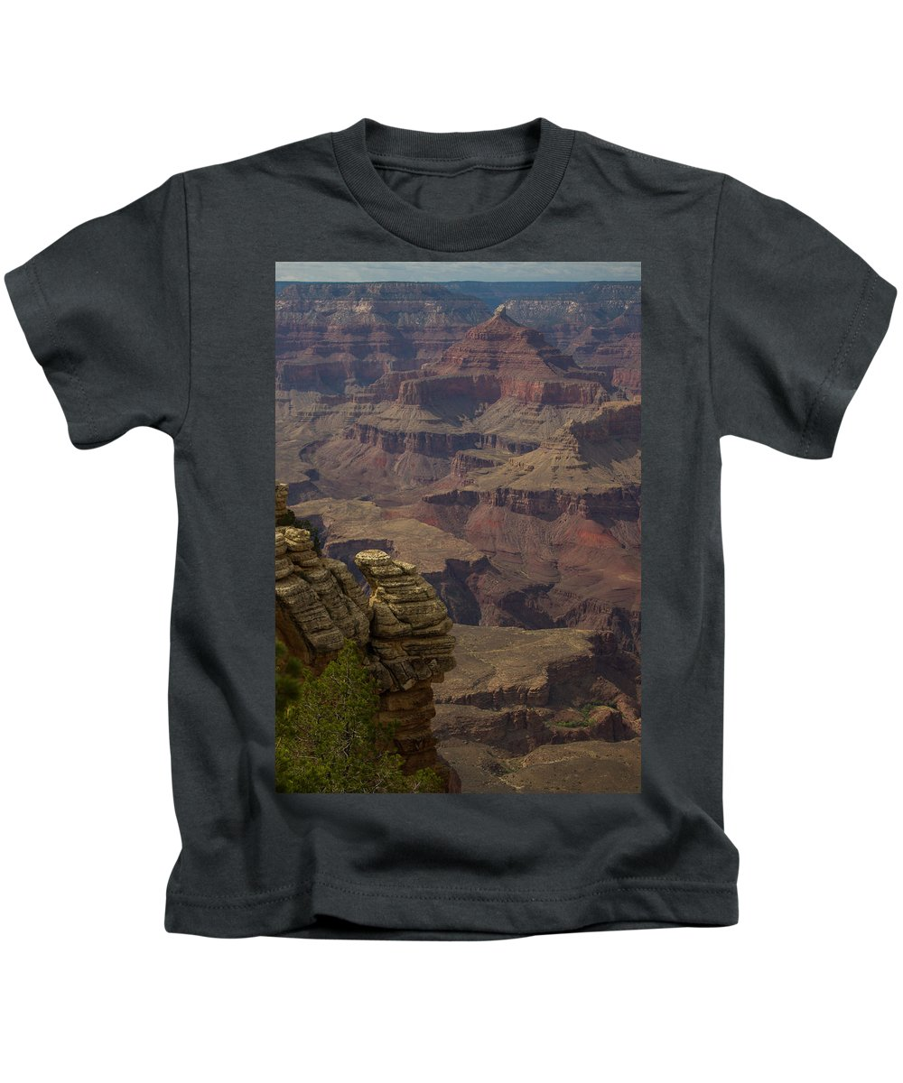 Grand Canyon Kids T-Shirt featuring the photograph Canyon Jenga by Kathleen Odenthal