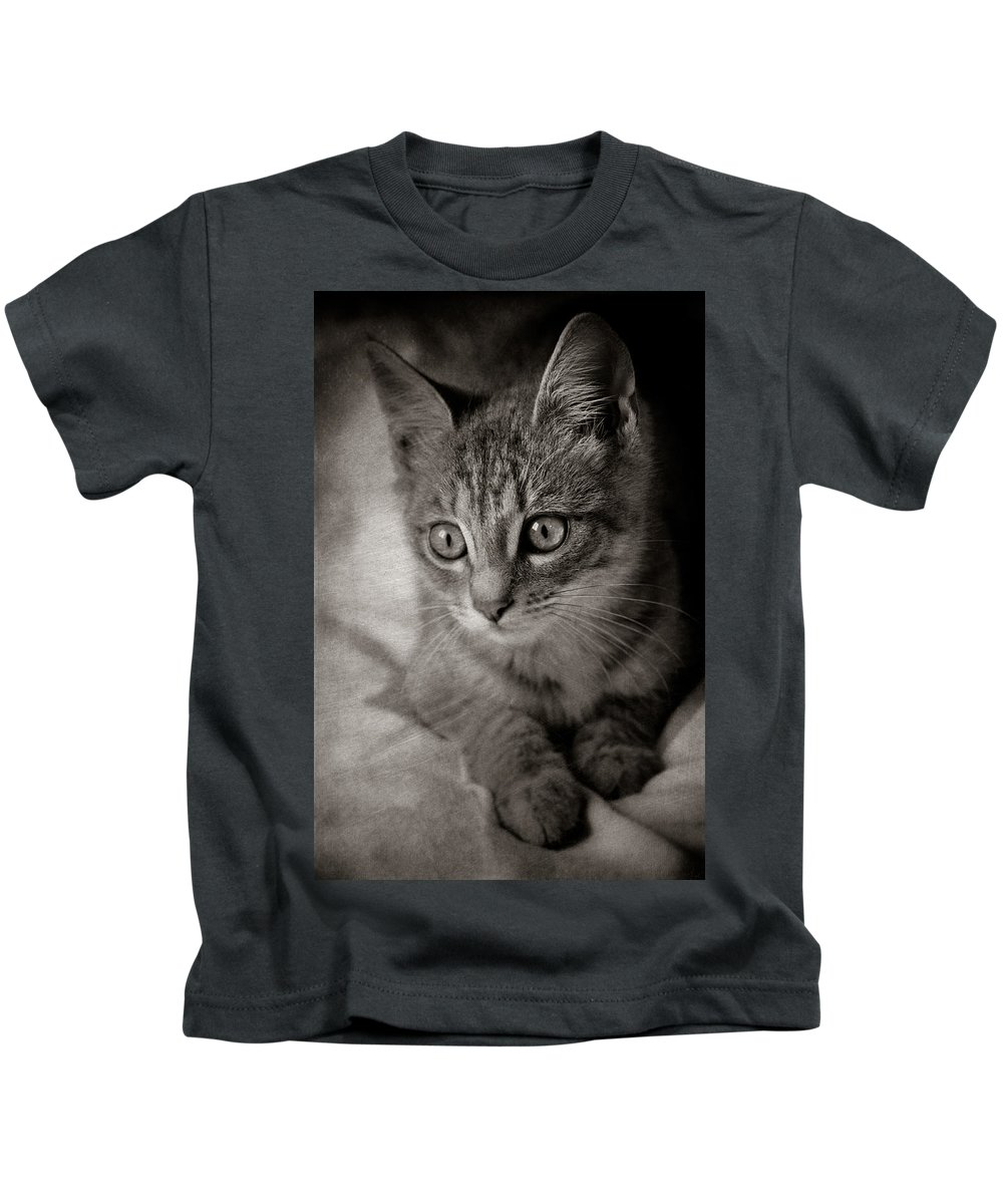 Loriental Kids T-Shirt featuring the photograph Cat's Eyes #05 by Loriental Photography