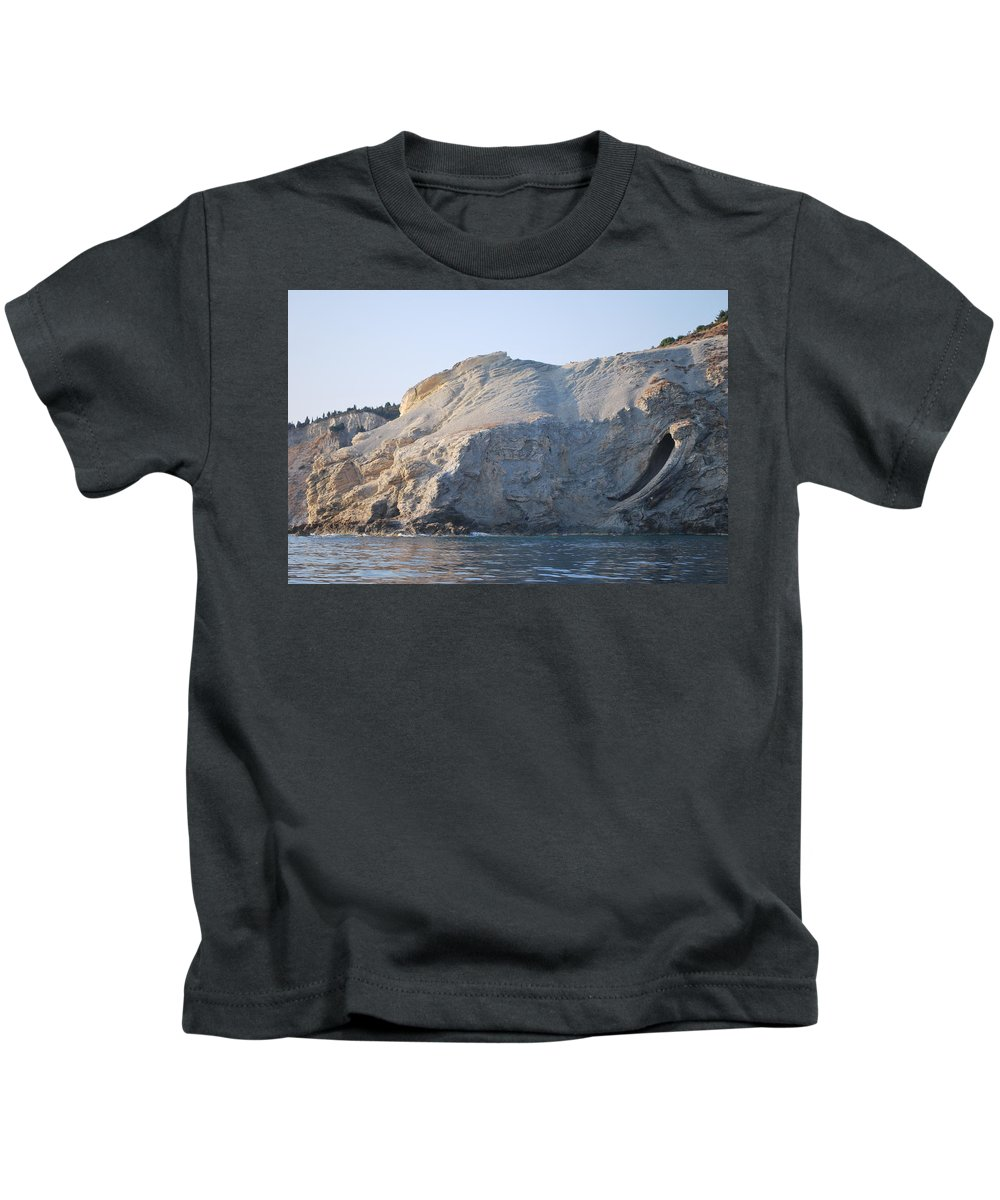 Cave Kids T-Shirt featuring the photograph Cave by George Katechis
