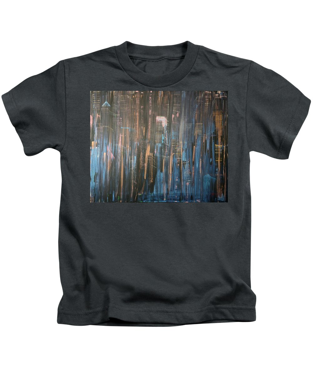 Jack Kids T-Shirt featuring the painting Champagne Nights by Jack Diamond