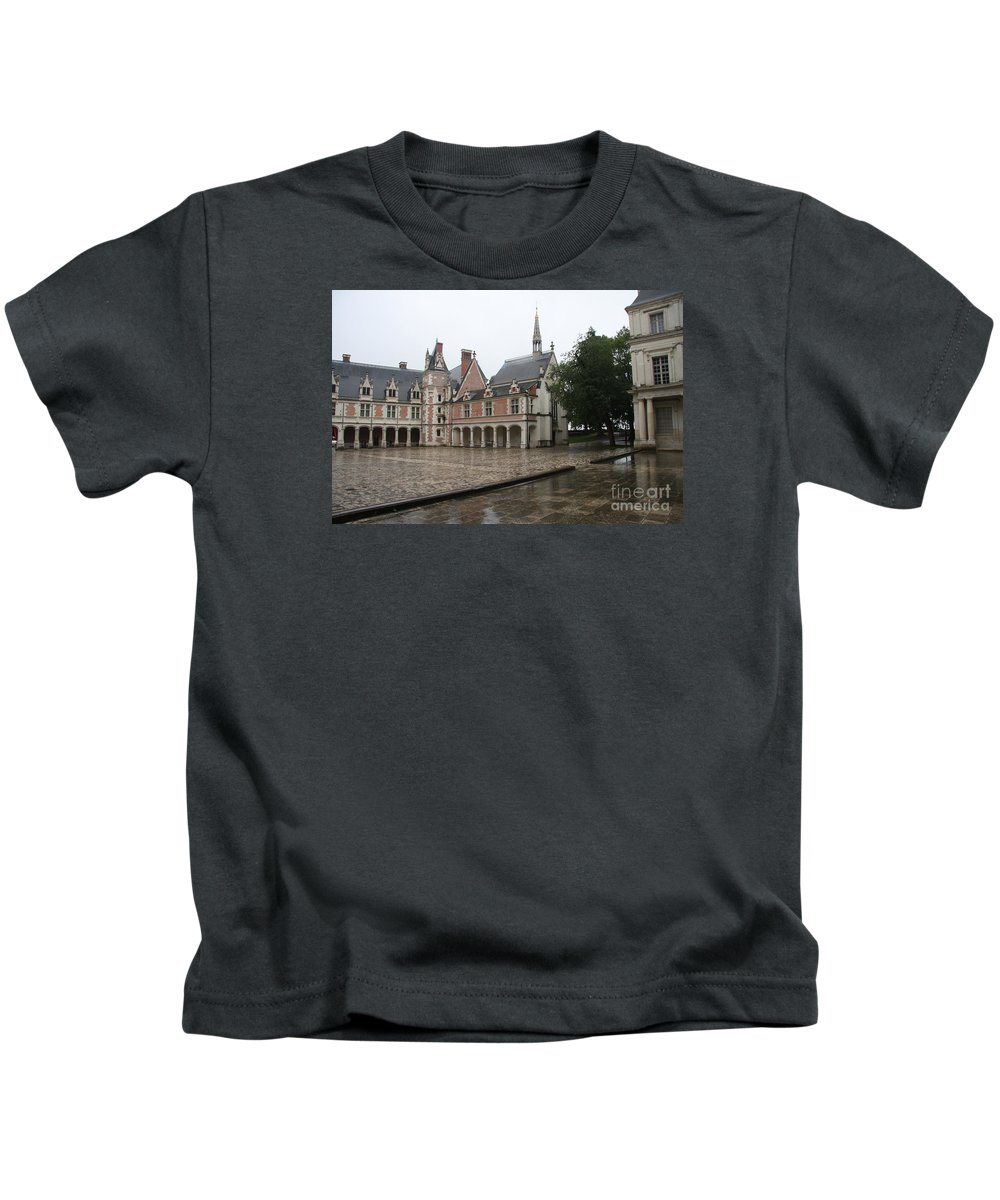 Palace Kids T-Shirt featuring the photograph Chapel And Courtyard Chateau Blois by Christiane Schulze Art And Photography