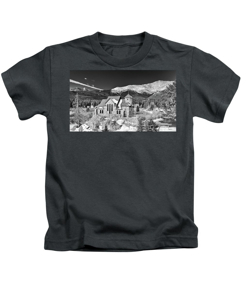 Buildings Kids T-Shirt featuring the photograph Chapel On The Rock by Guy Whiteley