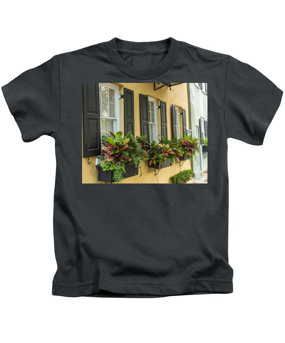 Charleston Kids T-Shirt featuring the photograph Charleston 12 by Ken Kobe