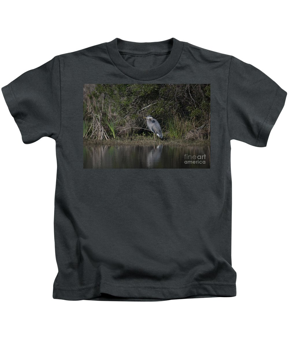 Great Blue Heron Kids T-Shirt featuring the photograph Charleston Birds by Dale Powell