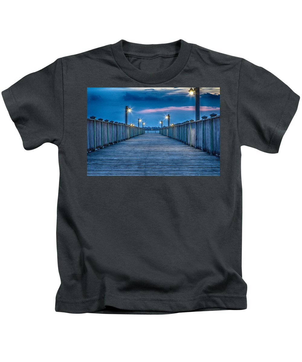 Charleston Kids T-Shirt featuring the photograph Charleston Harbor by Ken Kobe