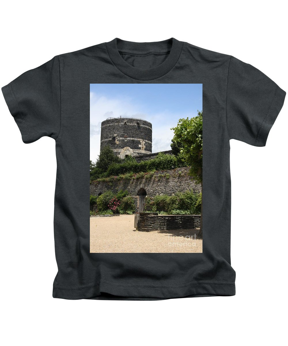 Castle Kids T-Shirt featuring the photograph Chateau D'angers Tower by Christiane Schulze Art And Photography