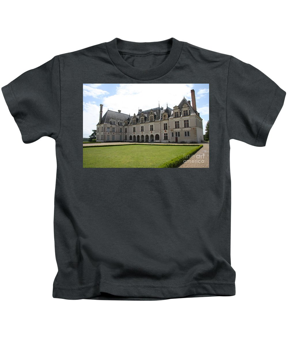 Palace Kids T-Shirt featuring the photograph Chateau de Beauregard Loire Valley by Christiane Schulze Art And Photography