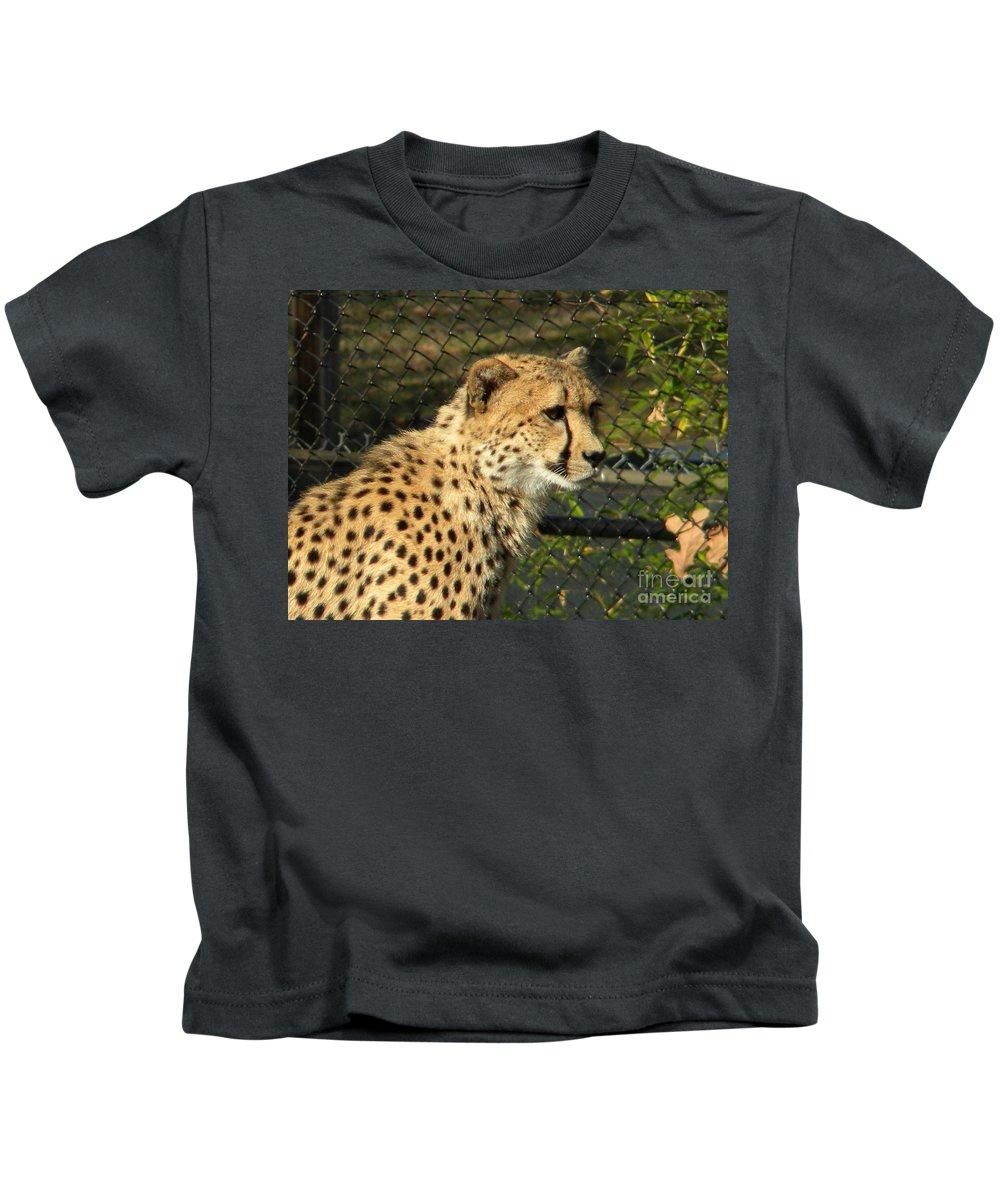 Cheetah Kids T-Shirt featuring the photograph Cheetah by Nathanael Smith