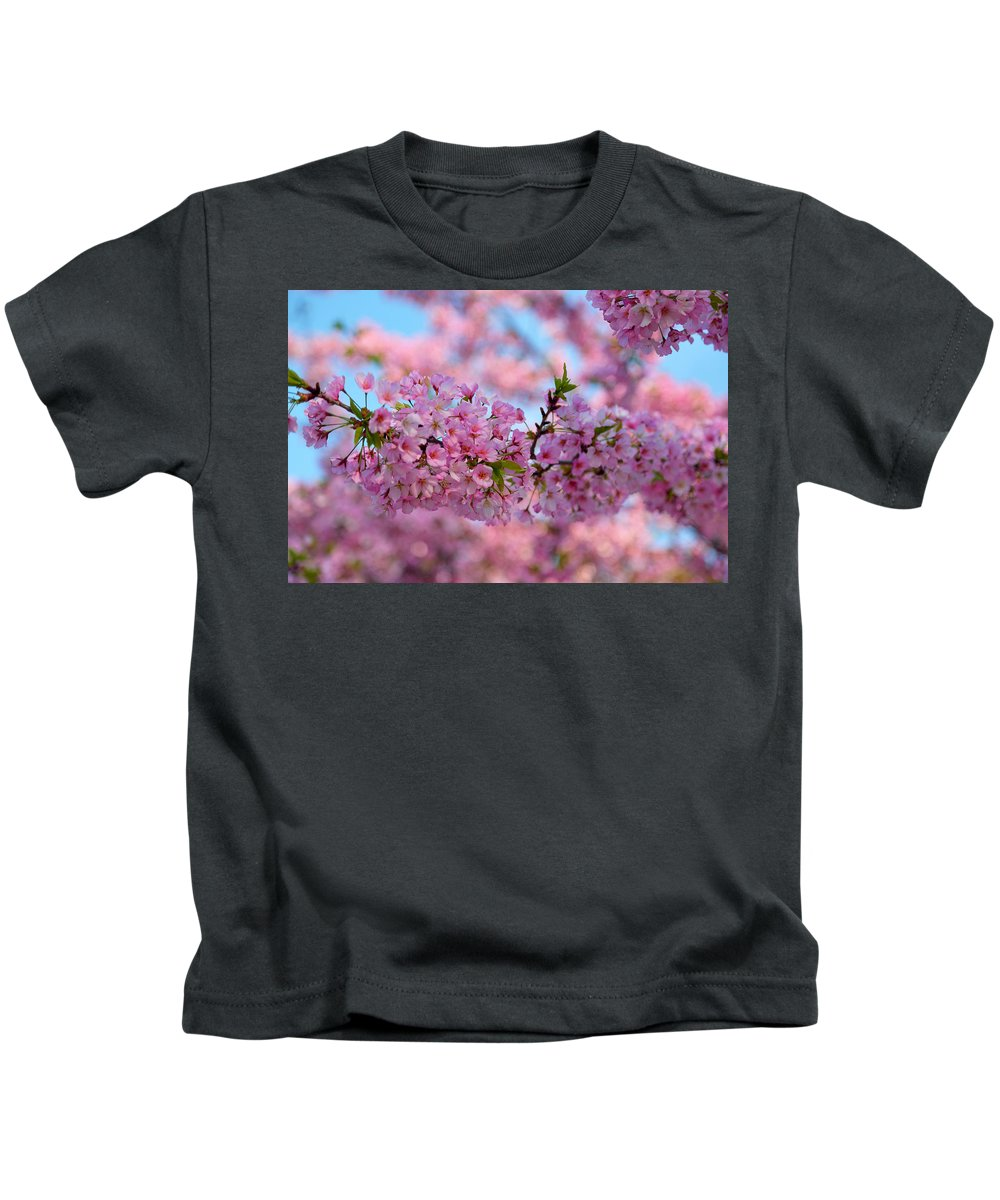 Architectural Kids T-Shirt featuring the photograph Cherry Blossoms 2013 - 095 by Metro DC Photography