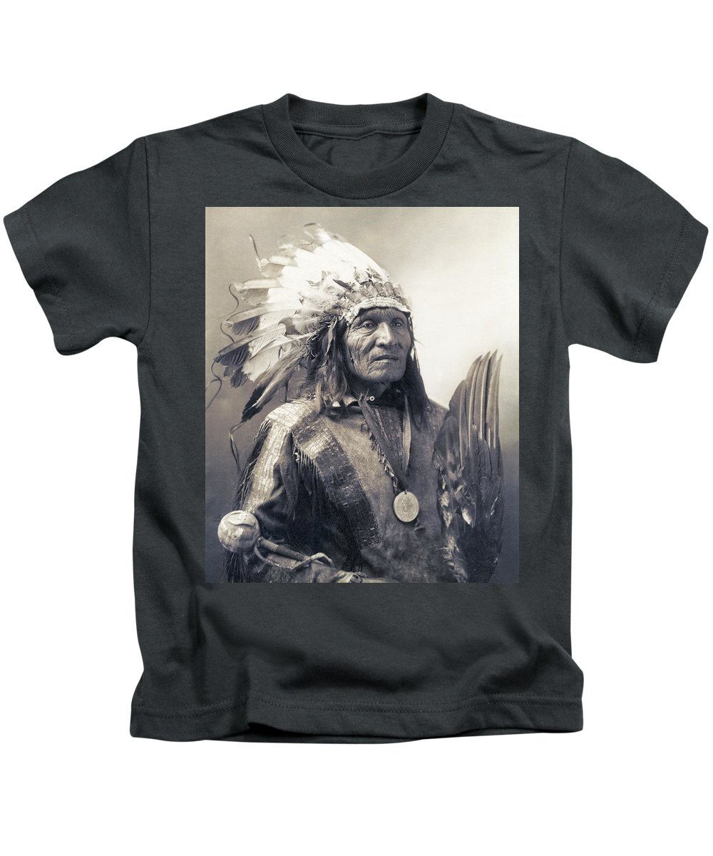 Indian Kids T-Shirt featuring the photograph Chief He Dog Of The Sioux Nation C. 1900 by Daniel Hagerman