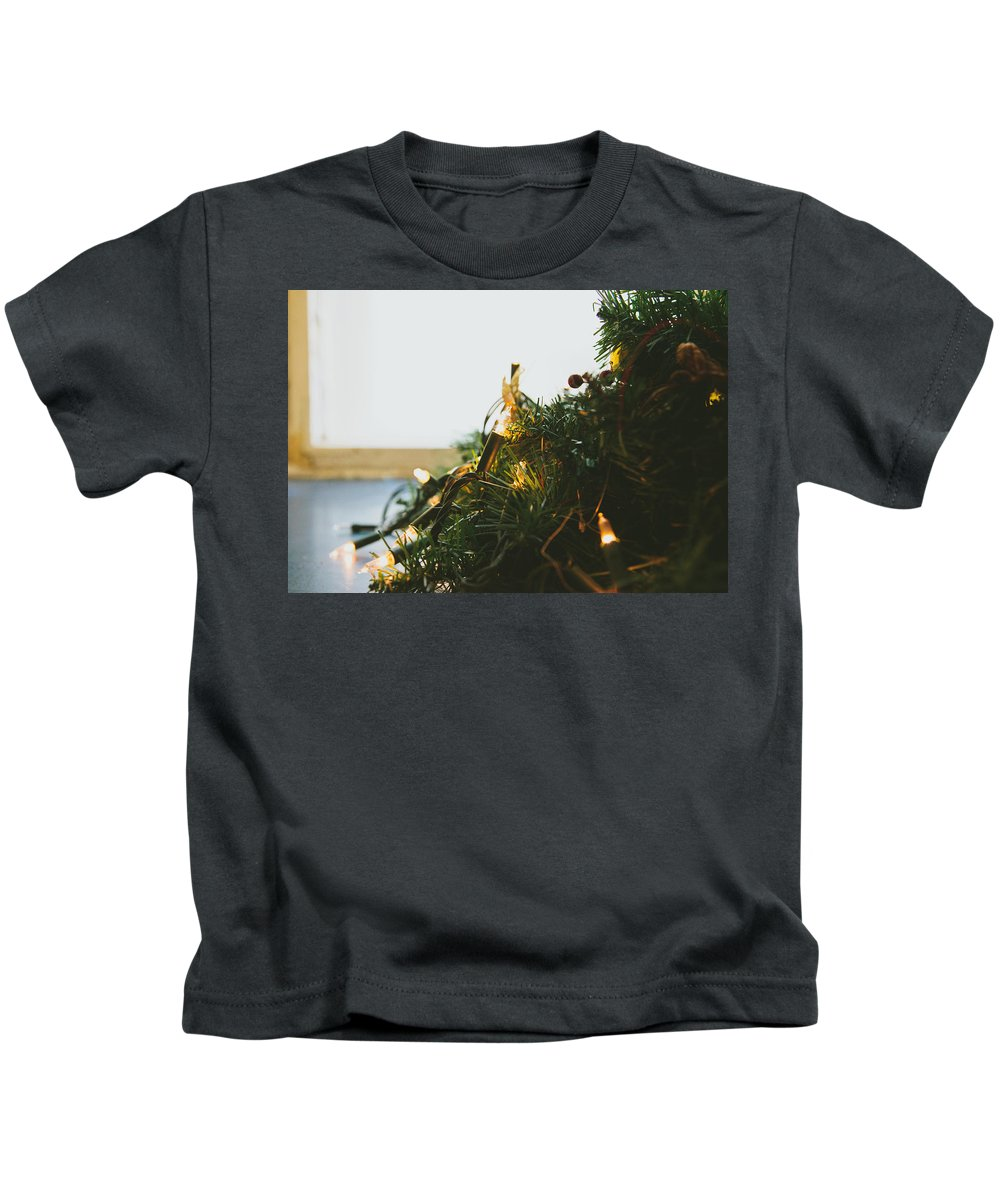 Decoration Kids T-Shirt featuring the photograph Christmas Lights by Pati Photography