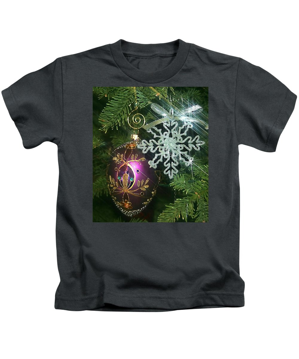 Christmas Ornaments Kids T-Shirt featuring the photograph Christmas Ornaments 2 by Ellen Henneke