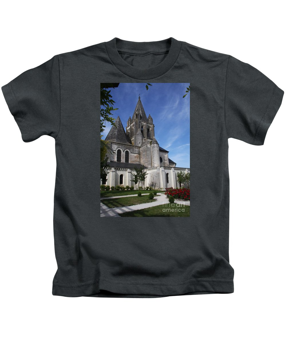 Church Kids T-Shirt featuring the photograph Church - Loches - France by Christiane Schulze Art And Photography