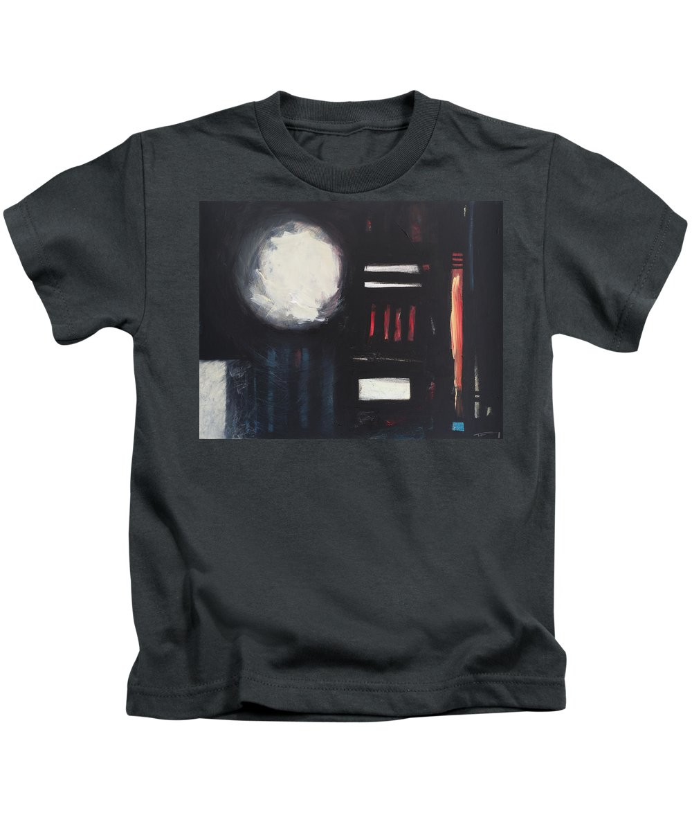 Abstract Kids T-Shirt featuring the painting City Lights After Rain by Tim Nyberg