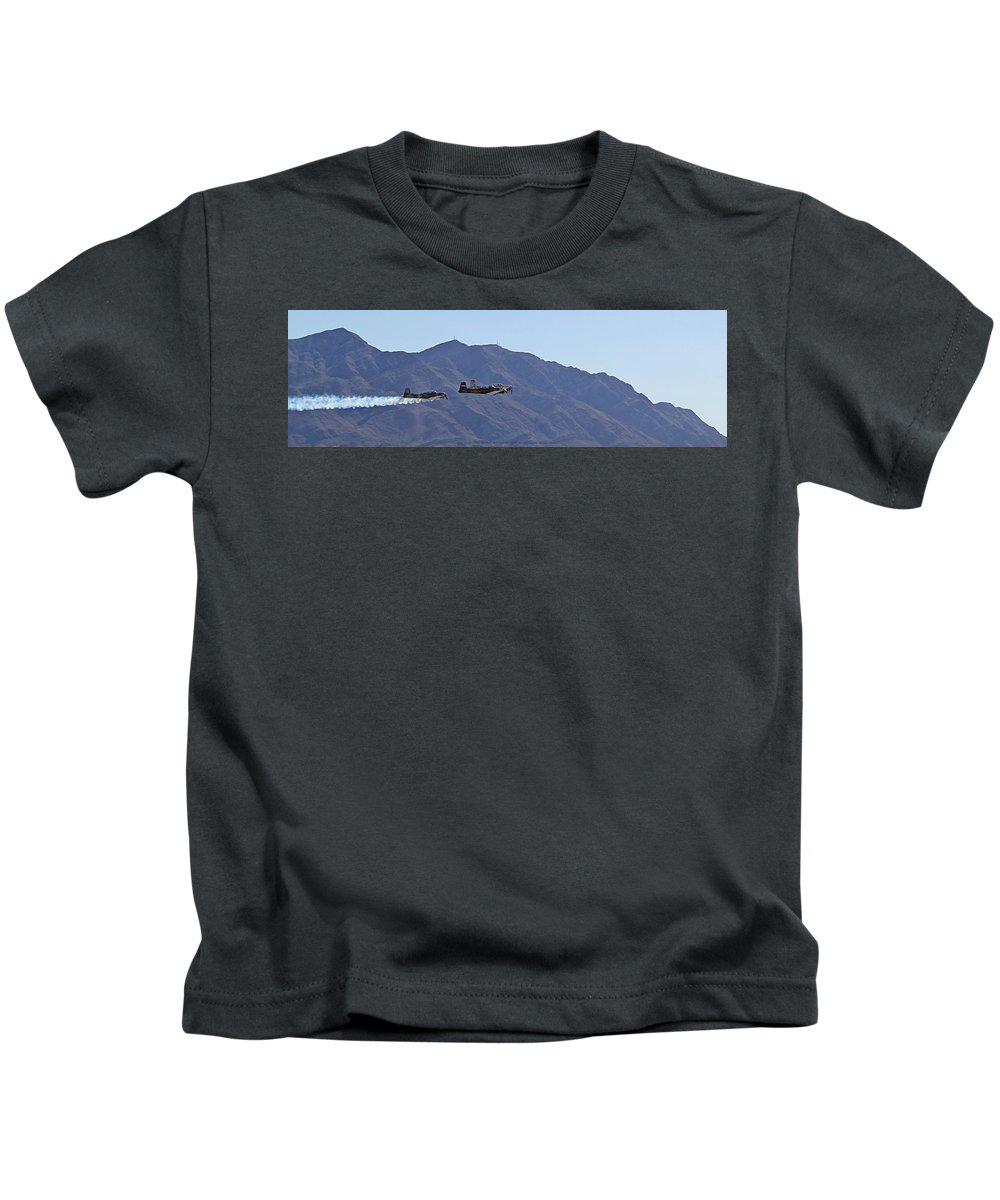 Cj6 Kids T-Shirt featuring the photograph Cj-6 Nanchang Desert Rat Formation by Carl Deaville