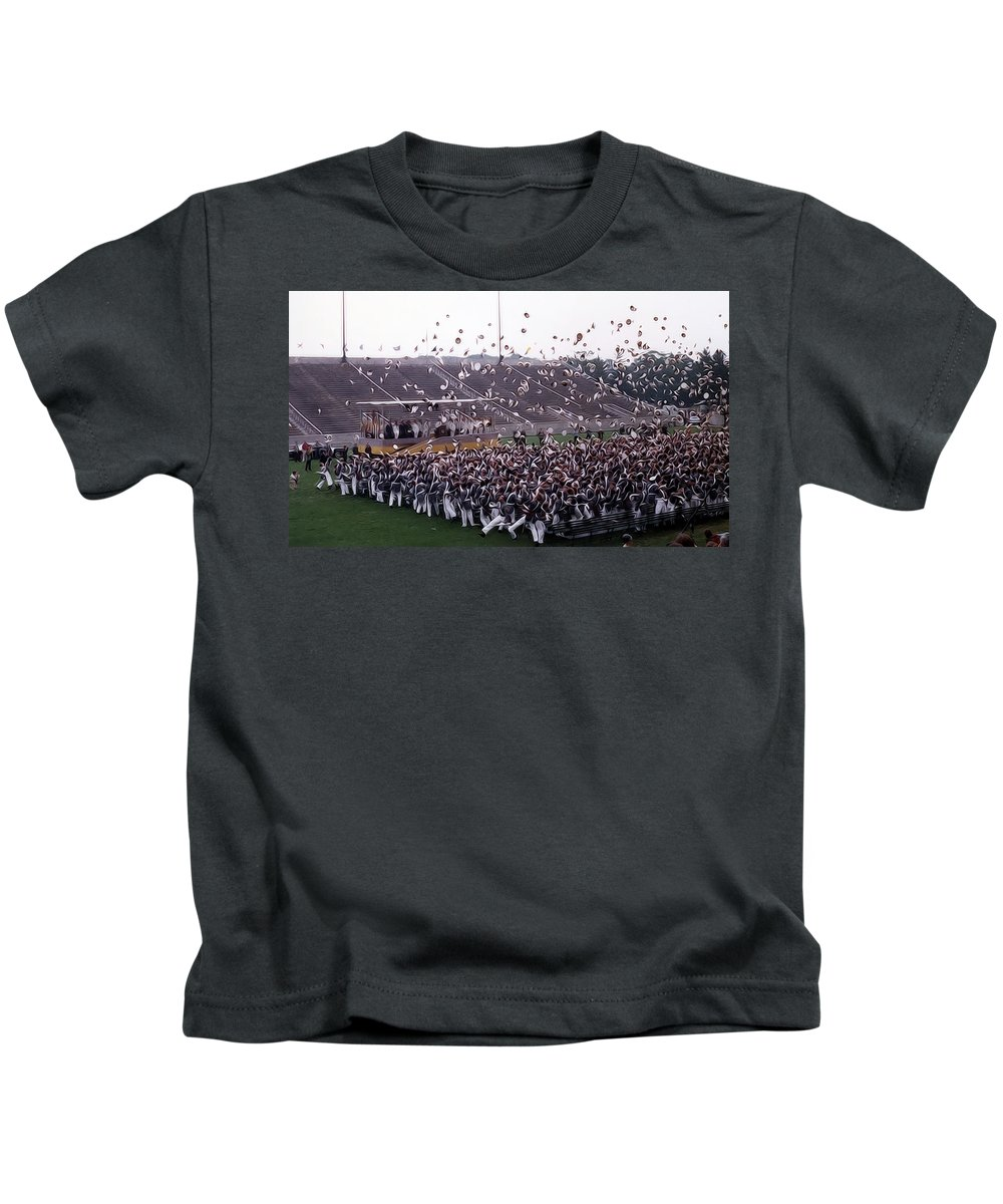 west Point Kids T-Shirt featuring the photograph Class Dismissed by Dan McManus