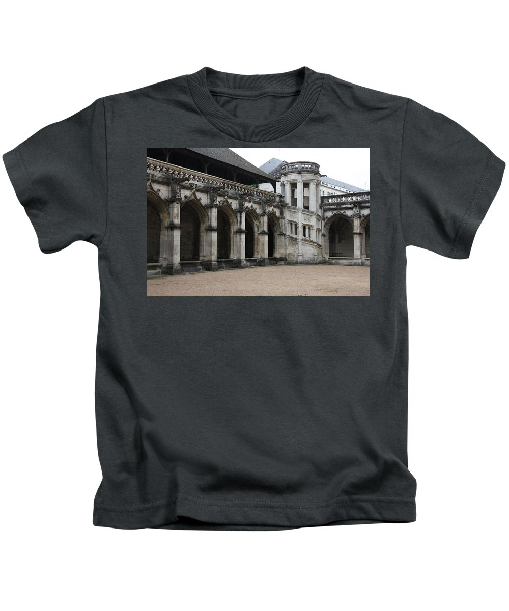 Cloister Kids T-Shirt featuring the photograph Cloister And Staircase Cathedral Tours by Christiane Schulze Art And Photography