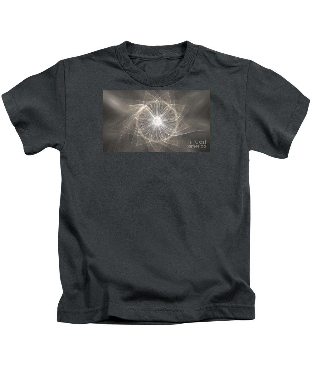 Apophysis Kids T-Shirt featuring the digital art Cloud Petals by Kim Sy Ok