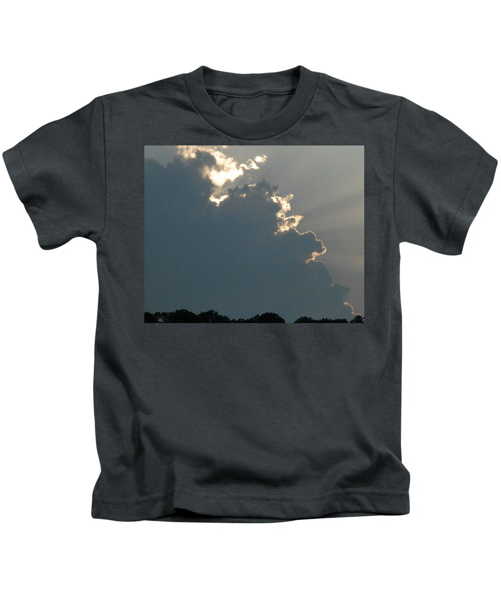 Cloud Kids T-Shirt featuring the photograph Clouds And Sun Rays by Richard Bryce and Family