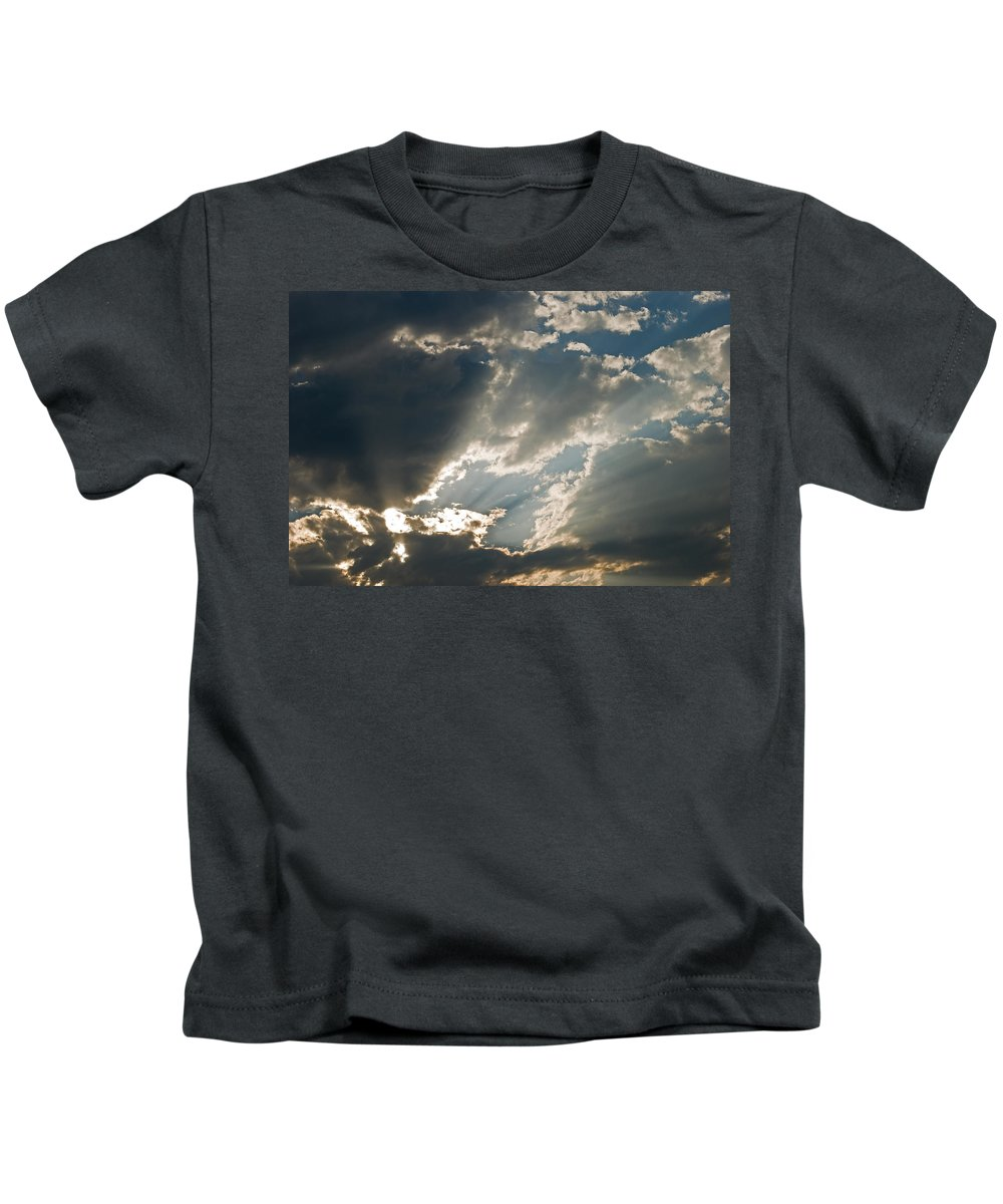 Clouds Kids T-Shirt featuring the photograph Clouds I by Robert VanDerWal