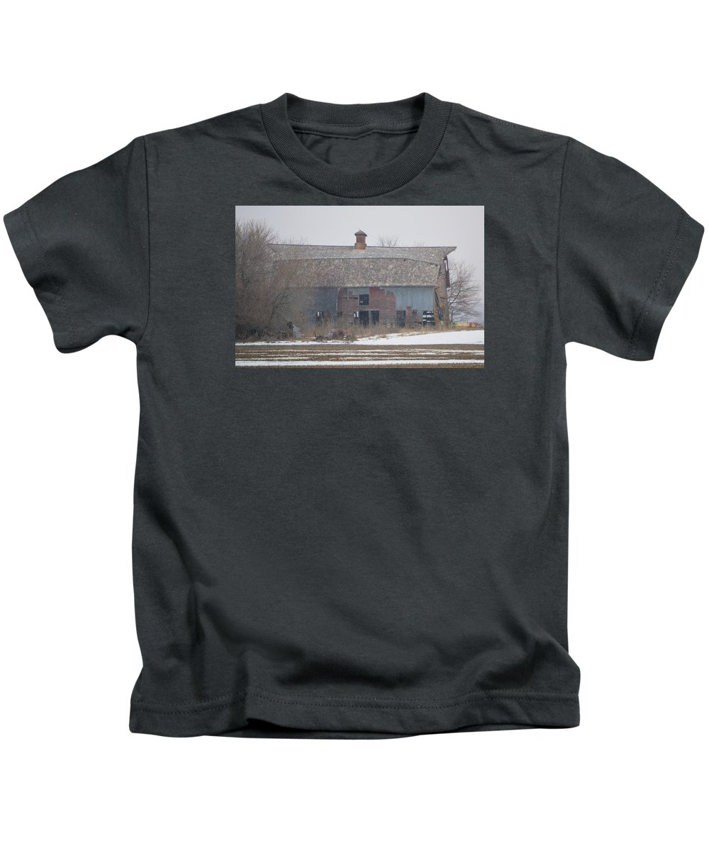 Barn Kids T-Shirt featuring the photograph Collapsing by Bonfire Photography