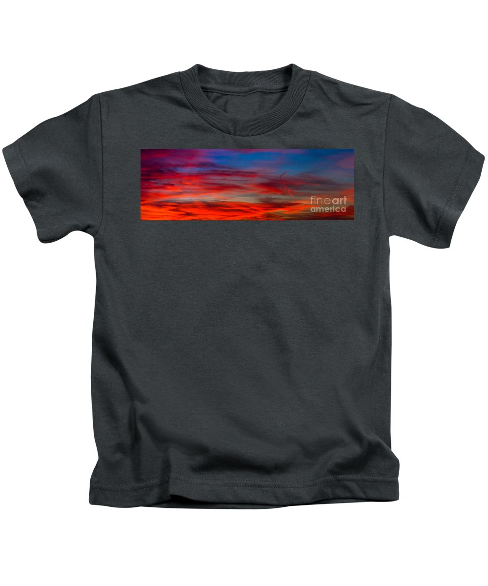 Sunset Kids T-Shirt featuring the photograph Color by Anthony Bonafede