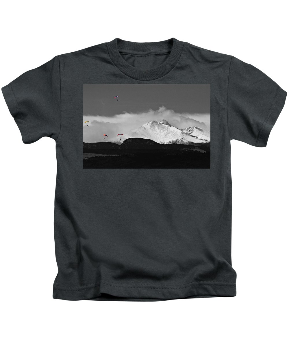 Boulder County Kids T-Shirt featuring the photograph Colorado Rocky Mountain High by James BO Insogna