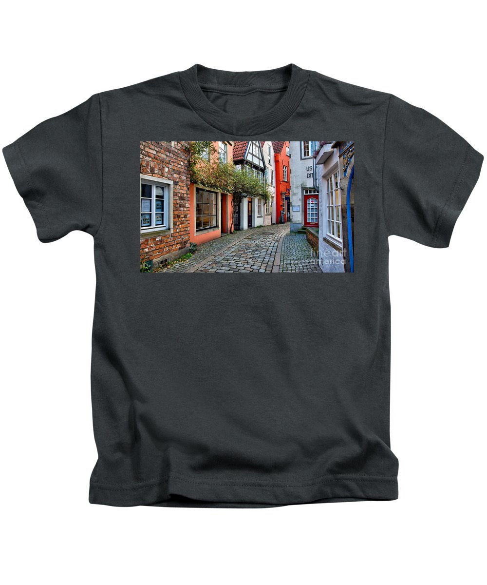Schnoor Kids T-Shirt featuring the photograph Colorful Schnoor by Ari Salmela