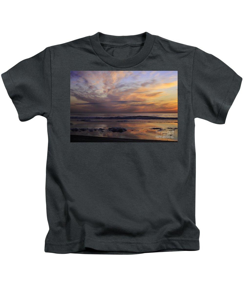 Fernandina Beach. Sunrise Kids T-Shirt featuring the photograph Colorful Sunrise by Maria Struss