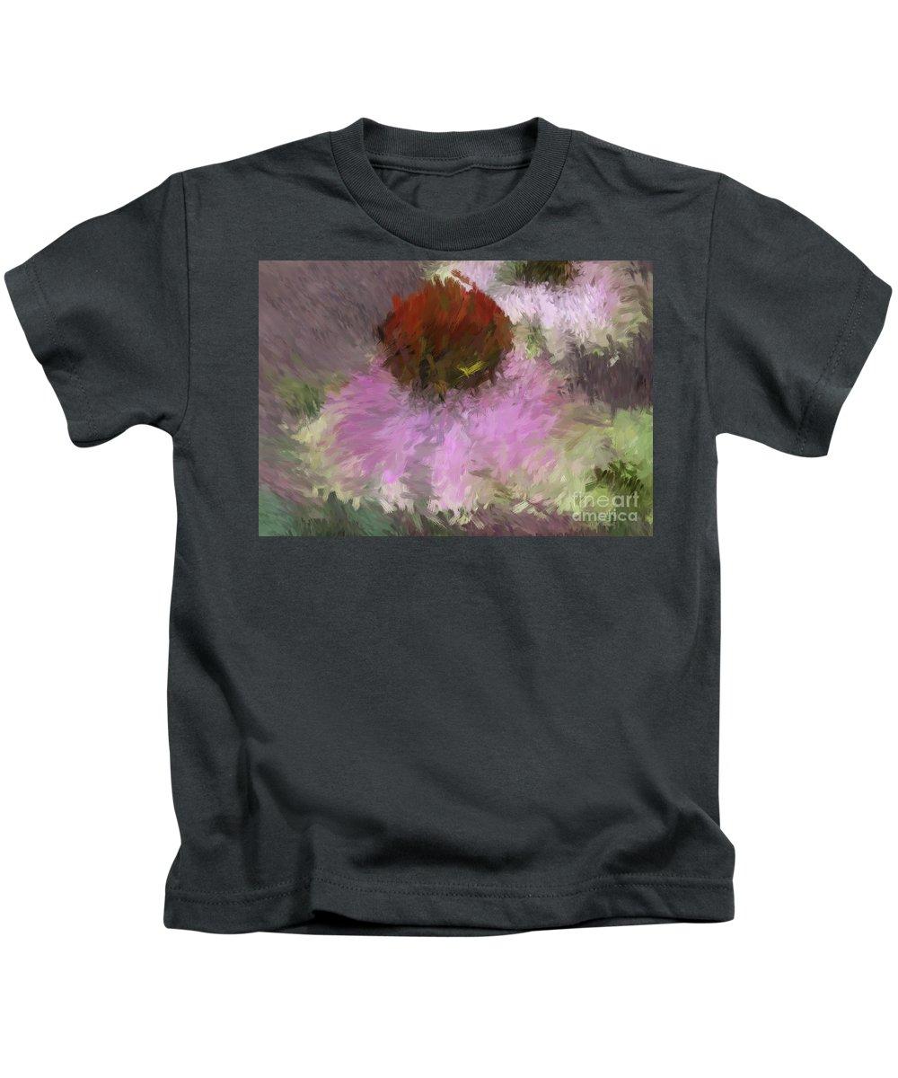 Flowers Kids T-Shirt featuring the digital art Cone Of Beauty Art by Deborah Benoit
