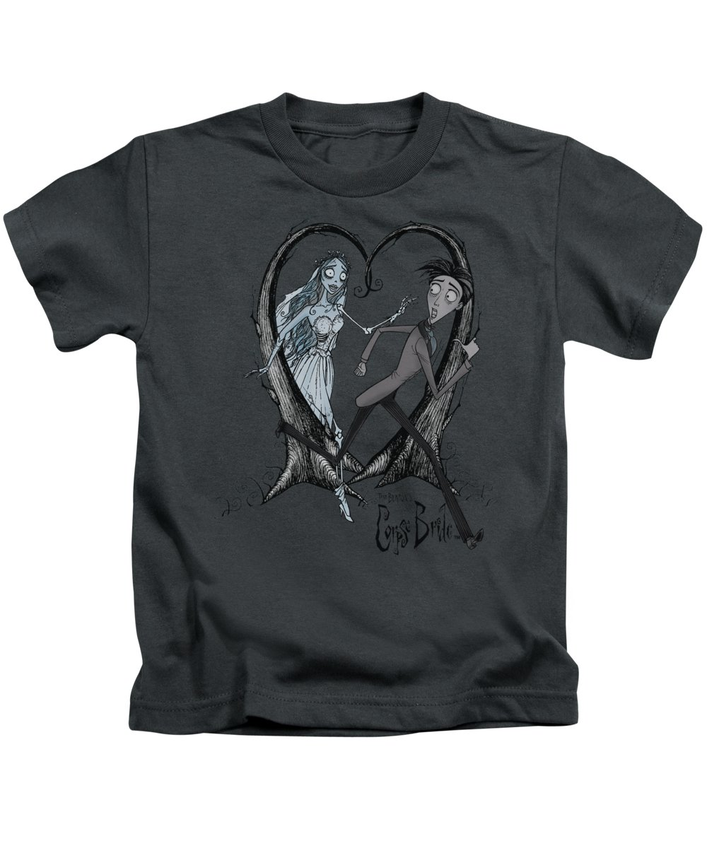 Corpse Bride Kids T-Shirt featuring the digital art Corpse Bride - Runaway Groom by Brand A