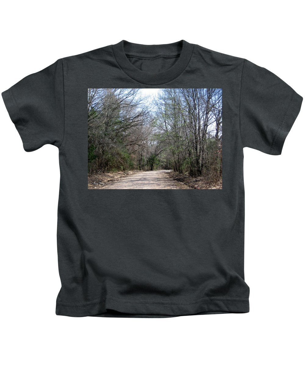 Country Road Kids T-Shirt featuring the photograph Country Road by Amy Hosp