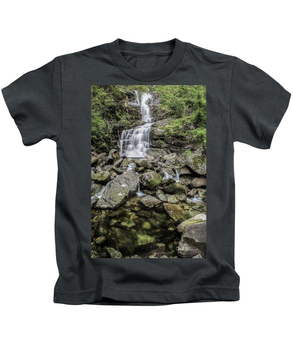 Deer Kids T-Shirt featuring the photograph Creek Falls by Charlie Duncan