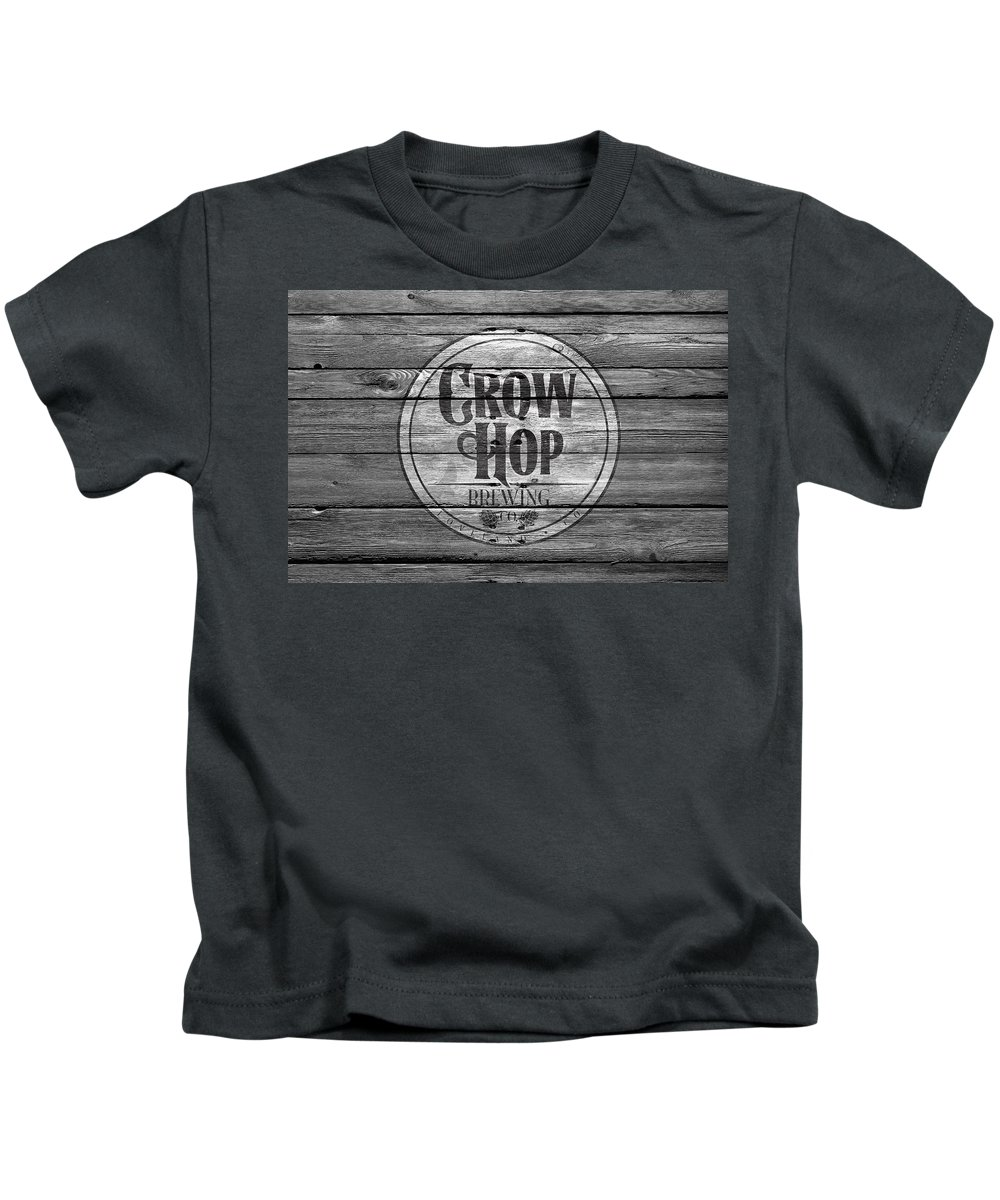 Crow Hop Kids T-Shirt featuring the photograph Crow Hop Brewing by Joe Hamilton
